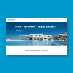 Portfolio Web design Naxos Apartments